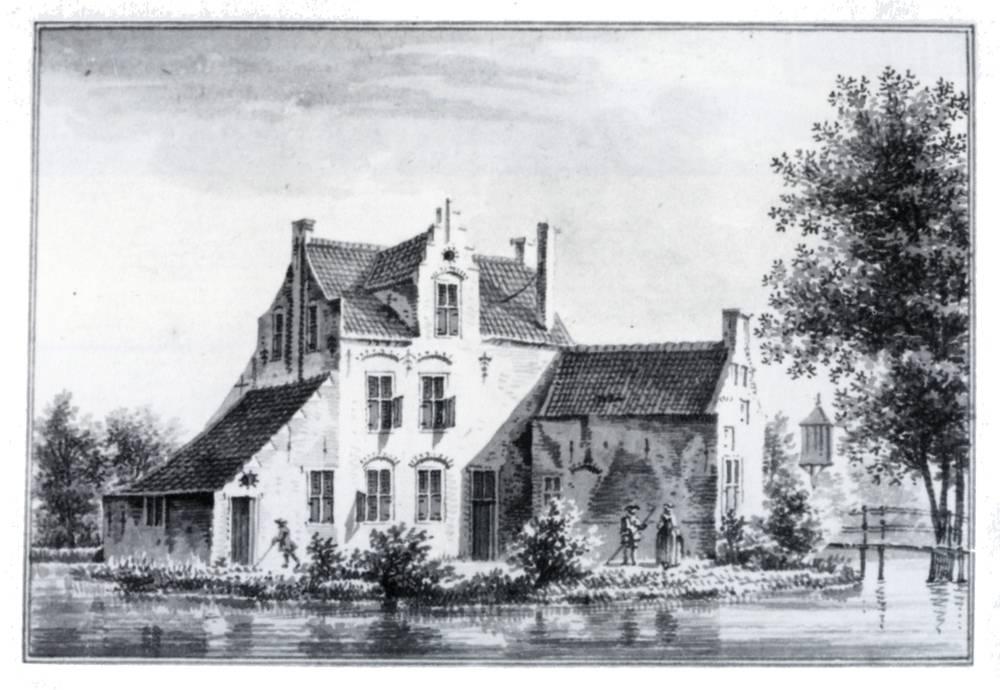 Emmickhuizen in Renswoude. Tekening Jan de Beijer, 1750